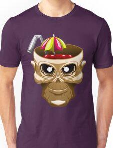skull fruit punch funny vector art yummy brain juice Unisex T-Shirt