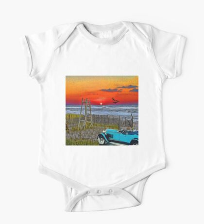A Drive On The Beach One Piece - Short Sleeve
