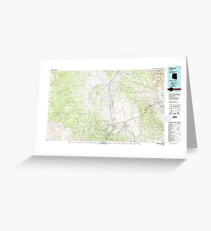 USGS TOPO Map Arizona AZ Prescott 315291 1981 100000 Greeting Card