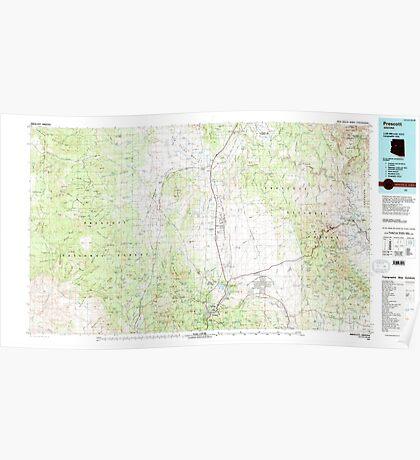 USGS TOPO Map Arizona AZ Prescott 315291 1981 100000 Poster