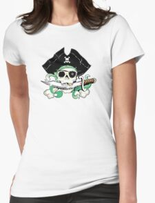 Pirate - One Eyed Willie Womens Fitted T-Shirt