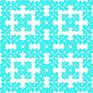 Cyan Damask Pattern by Toby Davis