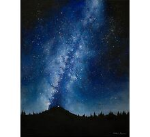 Starry night camping Photographic Print