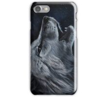 Arctic wolf howl iPhone Case/Skin