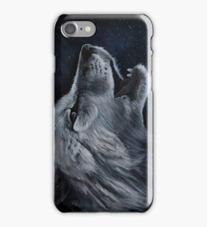 Arctic wolf howl iPhone Case/Skin