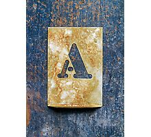 Letter A Photographic Print