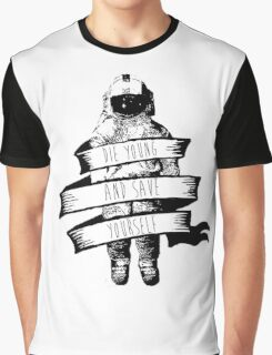 ribbon wrapped astronaut quote Graphic T-Shirt