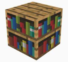 Blockcraft - bookcase by ReverendBJ