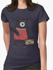 Boomer Bear Womens Fitted T-Shirt