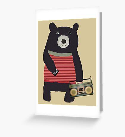 Boomer Bear Greeting Card