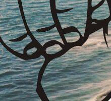 Beach Hand Shaka  Sticker