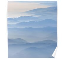 Blue misty mountains  Poster