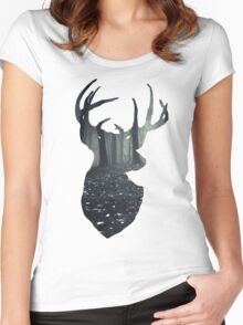 Deer Forest Women's Fitted Scoop T-Shirt