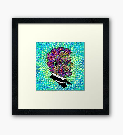 Psychedelic LSD Trip Abraham Lincoln Framed Print
