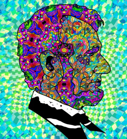 Psychedelic LSD Trip Abraham Lincoln Sticker