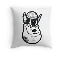 Big Bad Brain Throw Pillow