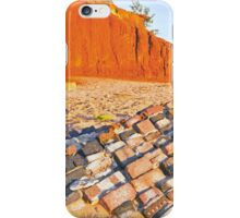 rock wall redell beach  iPhone Case/Skin
