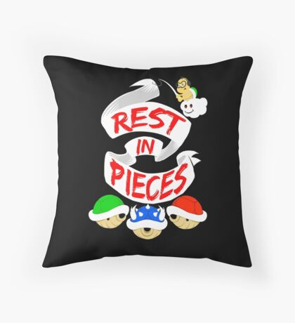 RIP Mario Kart Shells Throw Pillow