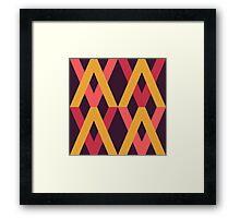 Color Block Autumn Palette Framed Print