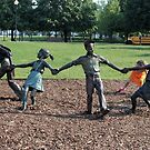 Kids Playing  by Michael McCasland