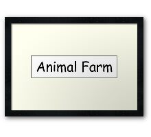Animal Farm Framed Print