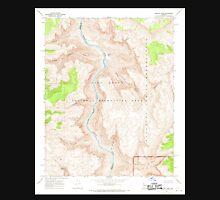 USGS TOPO Map Arizona AZ Granite Park 311544 1967 24000 Unisex T-Shirt