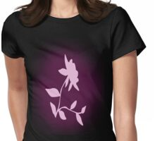 Flower silhouette in pink Womens Fitted T-Shirt