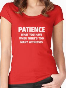 Patience Women's Fitted Scoop T-Shirt