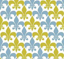 Flor de lis blue by IamJane--