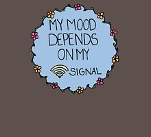 My Mood Depends on my WIFI Signal Womens Fitted T-Shirt