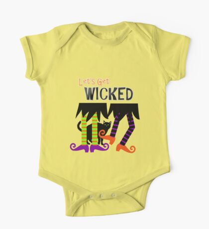 Lets Get Wicked Witch Themed Funny Graphic One Piece - Short Sleeve