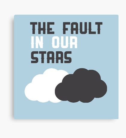 The Fault In Our Stars Cloud Canvas Print