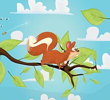 Molly the Red Squirrel by Nick  Greenaway