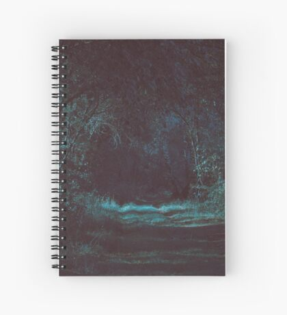 Spooky night alley Spiral Notebook