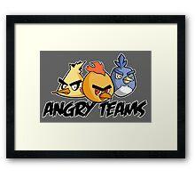 Angry teams Framed Print