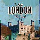 Vintage London travel poster by Nick  Greenaway