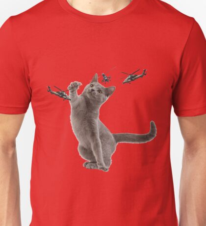 catplay with tiger helicopters Unisex T-Shirt