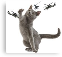 catplay with tiger helicopters Canvas Print