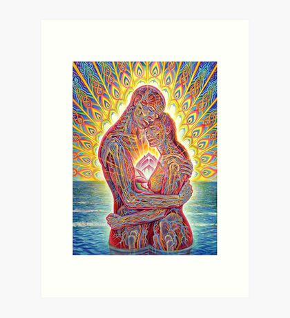 ALEX GREY MY LOVE Art Print