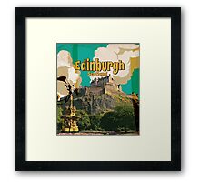 Edinburgh vintage travel poster Framed Print
