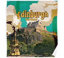 Edinburgh vintage travel poster Poster