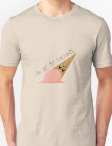 Oh no, my ice cream! Unisex T-Shirt