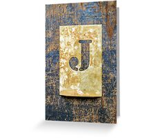 Letter J Greeting Card