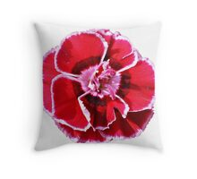 Dianthus Pinks Flower Throw Pillow