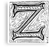 Beveled Alphabet Letter Z Canvas Print