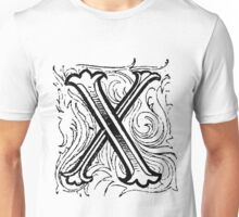 Beveled Alphabet Letter X Unisex T-Shirt