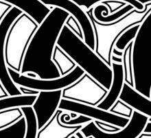 Viking Dragon in black Sticker