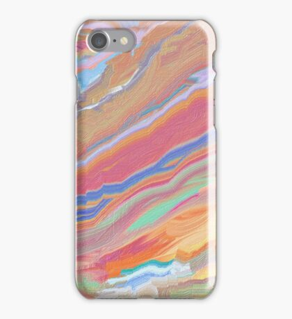Digital Painting (Rainbow Marble Effect/Mixed Paint) iPhone Case/Skin