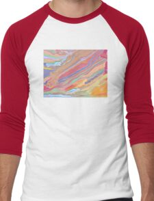 Digital Painting (Rainbow Marble Effect/Mixed Paint) Men's Baseball ¾ T-Shirt