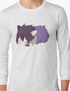 Chibi Sasuke Kitty Long Sleeve T-Shirt